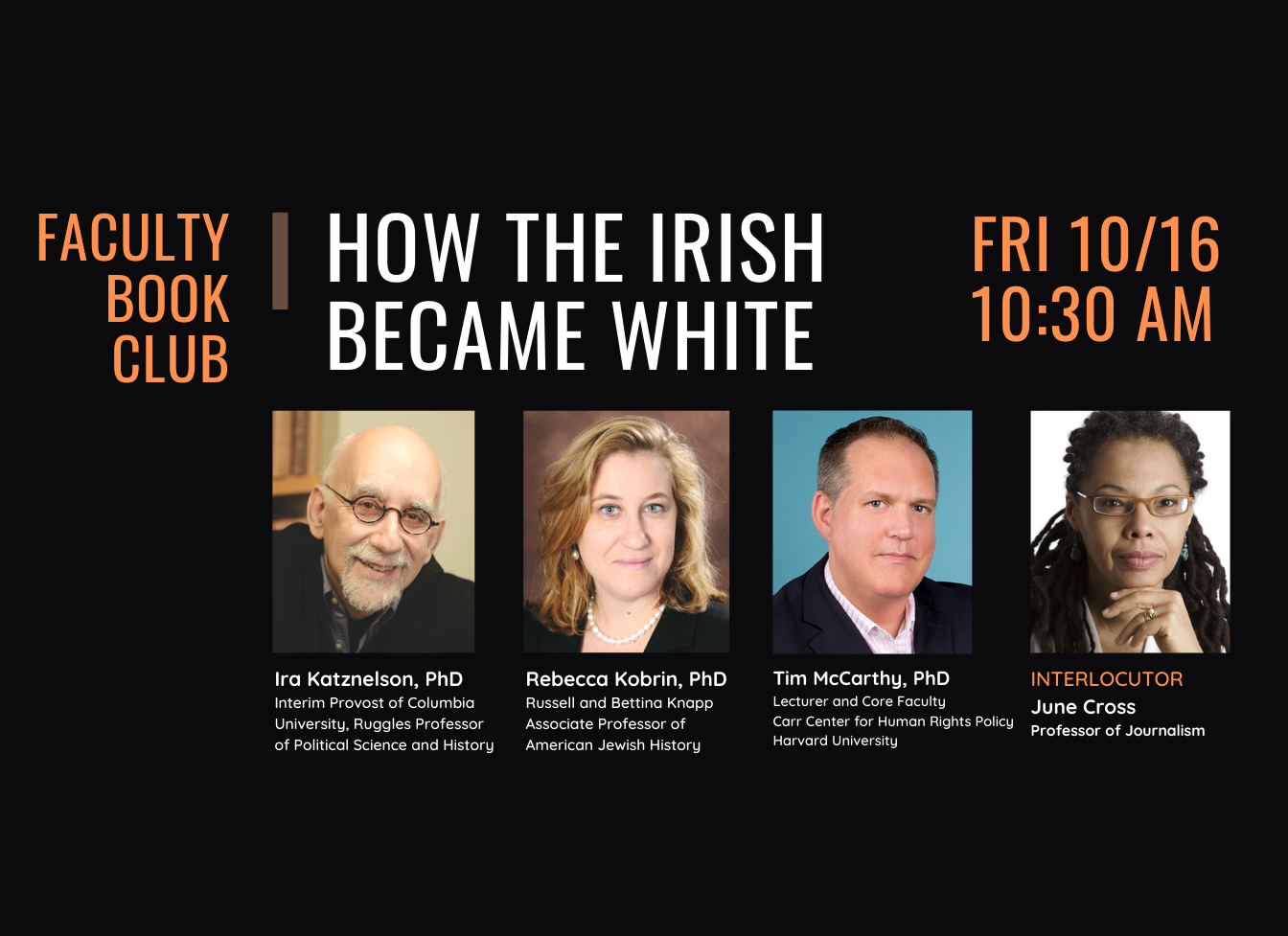 How the Irish Became White Panel